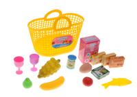 Купить ABtoys Набор продуктов в корзине 14 предметов цвет желтый, Сюжетно-ролевые игрушки