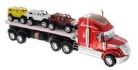 Купить Junfa Toys Автовоз инерционный с 3 машинками цвет красный, Машинки