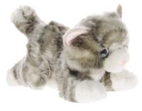 Купить Aurora Мягкая игрушка Котик серый 22 см, Мягкие игрушки