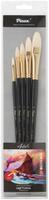 Купить Pinax Набор кистей из щетины Artists Classic Line плоскоовальные 5 шт, Кисти
