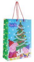 Купить Peppa Pig Пакет подарочный Пеппа зимой 35 х 25 х 9 см, Росмэн, Подарочная упаковка