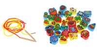 Купить Развивающие деревянные игрушки Шнуровка Ассорти 32 элемента, Обучение и развитие