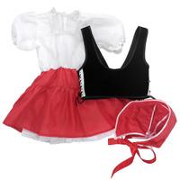 Купить Карнавальный костюм для девочки Вестифика Красная Шапочка, цвет: черный, красный. 102 003. Размер 98/110