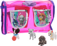 Купить Puppy In My Pocket Набор фигурок 4 шт + сумочка, Just Play (HK) LTD