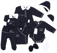 Купить Подарочный комплект для новорожденного Lucky Child Классик, 9 предметов, цвет: темно-синий. 20-1000. Размер 62/68, Одежда для новорожденных