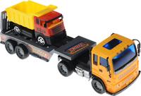 Купить Junfa Toys Автовоз инерционный с самосвалом цвет оранжевый, Машинки