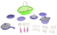 Купить Нордпласт Игрушечный набор посуды Кухонный сервиз Волшебная хозяюшка цвет зеленый сиреневый