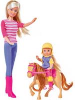 Купить Simba Набор кукол Штеффи и Еви с пони на ферме, Simba, 7391909, Куклы и аксессуары