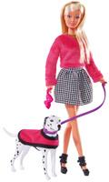 Купить Simba Кукла Штеффи на прогулке с далматинцем, Simba, 7391909, Куклы и аксессуары