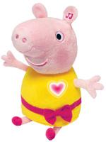 Купить Peppa Pig Мягкая озвученная игрушка Пеппа цвет розовый желтый 30 см