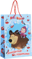 Купить Маша и Медведь Пакет подарочный Маша зимой 35 см х 25 см х 9 см, Росмэн