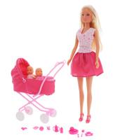 Купить Simba Игровой набор с куклой Штеффи с коляской, Simba, 7391909, Куклы и аксессуары