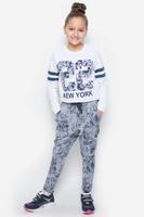 Купить Брюки для девочки S'cool, цвет: синий, серый меланж. 364170. Размер 146, 11 лет, Одежда для девочек