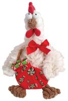Купить Fluffy Family Мягкая игрушка Петух новогодний цвет белый, Jiangsu Guotai International Group Guomao Co. Ltd., Мягкие игрушки