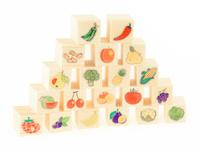 Купить Развивающие деревянные игрушки Кубики Овощи-фрукты