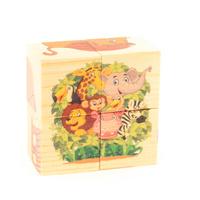 Купить Развивающие деревянные игрушки Кубики Зоопарк