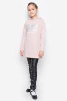 Купить Толстовка для девочки Button Blue, цвет: пепельно-розовый меланж. 216BBGC16032200. Размер 116, 6 лет, Одежда для девочек