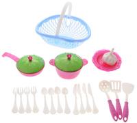 Купить Нордпласт Игрушечный набор посуды Кухонный сервиз Волшебная хозяюшка цвет фуксия голубой зеленый, Сюжетно-ролевые игрушки