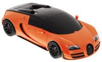 Купить Rastar Радиоуправляемая модель Bugatti Veyron 16.4 Grand Sport Vitesse цвет оранжевый черный масштаб 1:24