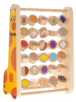 Купить Мир деревянных игрушек Развивающая игра Счеты цифры и фигуры Ученый жираф