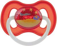 Купить Canpol Babies Пустышка латексная Space от 6 до 18 месяцев цвет красный