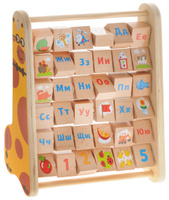 Купить Мир деревянных игрушек Счеты-алфавит, Обучение и развитие