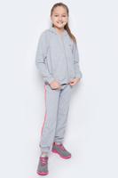 Купить Спортивный костюм для девочки Pastilla Чемпионка, цвет: серый меланж. 6449. Размер 116, Одежда для девочек