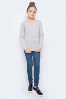 Купить Джемпер для девочки Sela, цвет: светло-серый меланж. JR-614/150-6415. Размер 140, 10 лет, Одежда для девочек