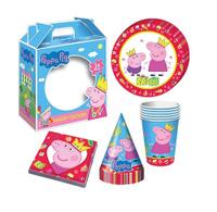 Купить Peppa Pig Набор бумажной посуды и аксессуаров Пеппа-принцесса 24 предмета, Росмэн, Сервировка праздничного стола