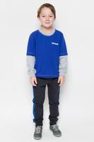 Купить Свитшот для мальчика Pastilla Штурман, цвет: васильковый, серый меланж. 6816. Размер 122, Одежда для мальчиков