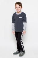 Купить Свитшот для мальчика Pastilla Штурман, цвет: темно-серый, серый меланж. 6816. Размер 134, Одежда для мальчиков