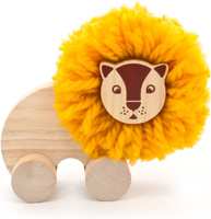 Купить Мир деревянных игрушек Игрушка-каталка Помпон Лев