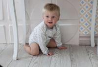 Купить Боди для мальчика Lucky Child Дуэт, цвет: серый, молочный, 2 шт. 33-5. Размер 68/74, Одежда для новорожденных