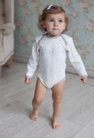 Купить Боди для девочки Lucky Child Дуэт, цвет: бежевый, молочный, 2 шт. 33-5. Размер 74/80, Одежда для новорожденных