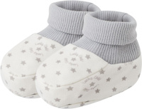 Купить Пинетки для мальчика Lucky Child, цвет: серый, молочный. 33-29_интерлок. Возраст 0/3 мес, Одежда для новорожденных