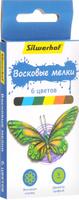 Купить Silwerhof Восковые мелки Бабочки 6 цветов, Мелки и пастель