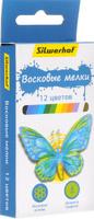 Купить Silwerhof Восковые мелки Бабочки 12 цветов, Мелки и пастель