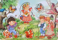 Купить Фабрика Мастер игрушек Рамка-вкладыш Дети на природе, Тимбергрупп