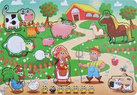Купить Фабрика Мастер игрушек Рамка-вкладыш Большая ферма, Тимбергрупп, Обучение и развитие