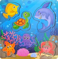 Купить Фабрика Мастер игрушек Рамка-вкладыш Магнитная рыбалка 3, Тимбергрупп, Обучение и развитие