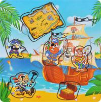Купить Фабрика Мастер игрушек Рамка-вкладыш Пираты с картой, Тимбергрупп