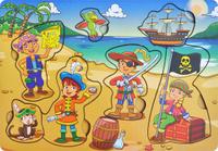 Купить Фабрика Мастер игрушек Рамка-вкладыш Дети-пираты, Тимбергрупп