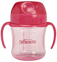 Купить Dr.Brown's Поильник-непроливайка от 6 месяцев цвет розовый 180 мл