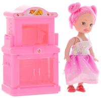 Купить Shantou Игровой набор с мини-куклой Bettina со шкафом и плитой