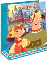 Купить Три богатыря Пакет подарочный детский Любава и Алеша Попович 23 см х 18 см х 10 см