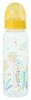 Купить Мир Детства Бутылочка для кормления с силиконовой соской Травы цвет желтый 250 мл, Мир детства