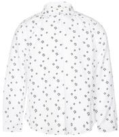 Купить Рубашка для девочки Button Blue, цвет: белый, черный. 216BBGC22010201. Размер 104, 4 года, Одежда для девочек