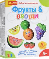 Купить Ranok Набор для творчества Фрукты и овощи на магнитах, Ранок, Игрушки своими руками