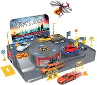 Купить Welly Игровой набор Гараж с 3 машинами и вертолетом 96010