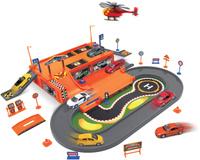 Купить Welly Игровой набор Гараж с 3 машинами и вертолетом 96030